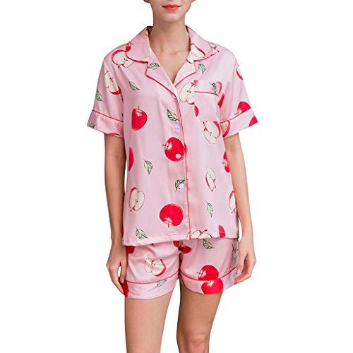 (GDJGTA Women's Cute and Sweet Short Sleeve Shorts Pajamas Lingerie Nightwear Underwear Sleepwear Set)