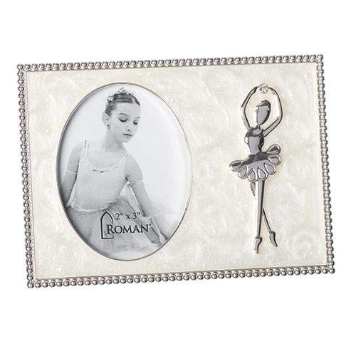 Ballerina Swirled Ivory With Jewel Tone Accents 5.5 x 4 Zinc Alloy Photo Frame