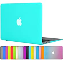 "Easygoby MacBook Air 13 Case - Neon Matte Silky-Smooth Satins Touch Hard Shell Case Cover for 13-inch MacBook Air 13.3"" (Models: A1369 and A1466) - Turquoise"