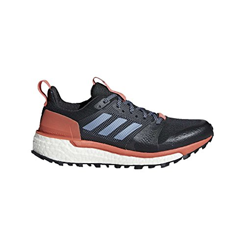 adidas Women's Supernova Trail Running Shoes, Carbon \ Raw Steel \ Trace Scarlet,8.5 M US