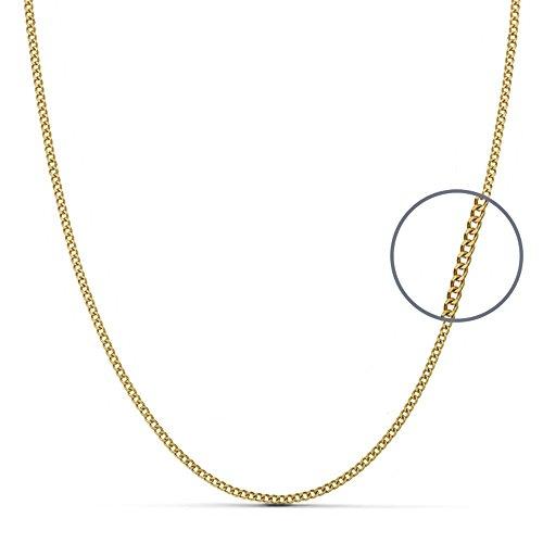 Chaîne Herringbone 18k 40cm d'or. 1.2mm. [AA7224]