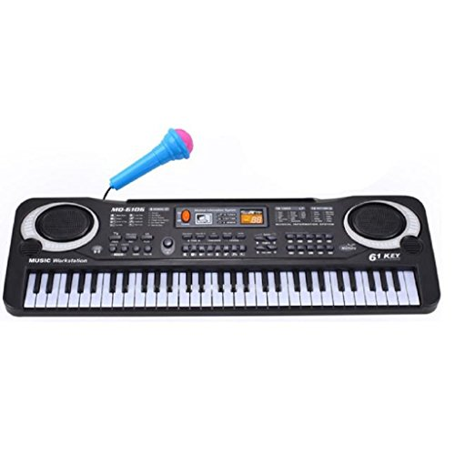 [Gillberry New 61 Keys Digital Music Electronic Keyboard Key Board Gift Electric Piano Gift] (Minnie Mouse Nose)