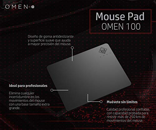 OMEN by HP Square Gaming Mouse Pad 100 (Black)