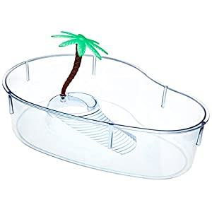 Lee's Turtle Lagoon, Kidney w/Plant, 12-Inch by 8-5/8-Inch by 3-Inch 67