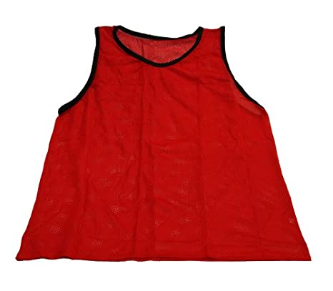 f3668027d Image Unavailable. Image not available for. Color  Workoutz Youth Red Soccer  Pinnies (Set of 12) Cheap Scrimmage Vests Mesh Team Practice