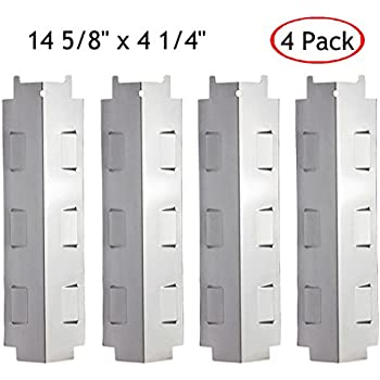 3 Pck BBQ Barbecue Replacement Gas Grill Stainless Steel Heat Plate Shield Tent