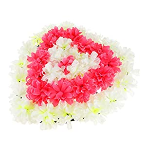 Prettyia Artificial Heart Wreath Chrysanthemum Funeral Headstone Cemetery Arrangements 6
