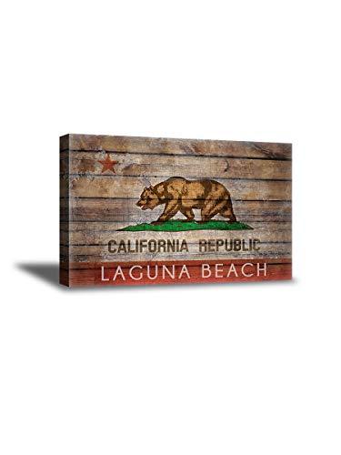 Vizor California Flags Canvas Wall Art Laguna Beach Office Home Decor Prints 15