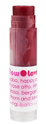 Living Libations - Organic/Wildcrafted Lover Lips Lip Balm (RoseGlow, 2-pack)