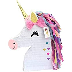 APINATA4U Unicorn Pinata with Pink Bow Magical Unicorn Theme Party Favor