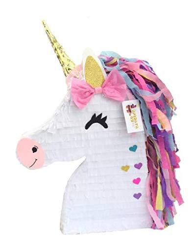 APINATA4U Unicorn Pinata with Pink Bow Magical Unicorn Theme Party Favor by APINATA4U