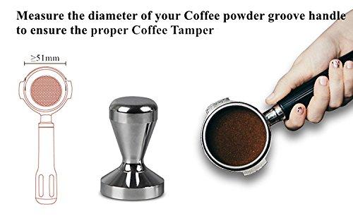 Apexstone Espresso Coffee Tamper,Espresso Tamper,Coffee Tamper 51mm,Solid Heavy