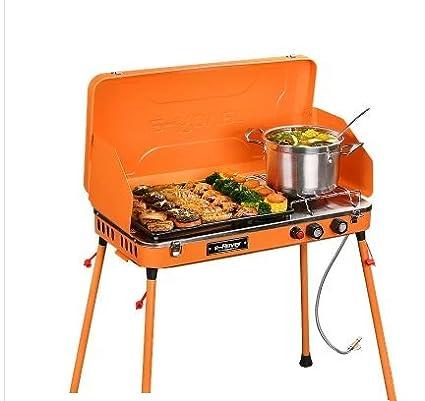Barbacoa al aire libre barbacoa de gas estufa con juego completo de herramientas Home Grill Home