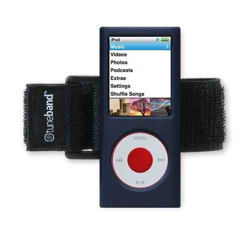 no 4th Generation (Model A1285, No Rear Camera), Premium Armband, Compatible with Nike+iPod, NAVY BLUE (Ipod Nano 3rd Armband)
