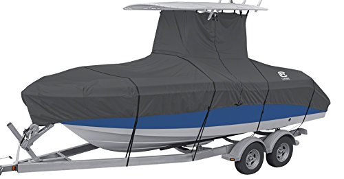 - Classic Accessories StormPro Heavy Duty Center Console T-Top Roof Boat Cover, For 20'-22' Long, up to 106