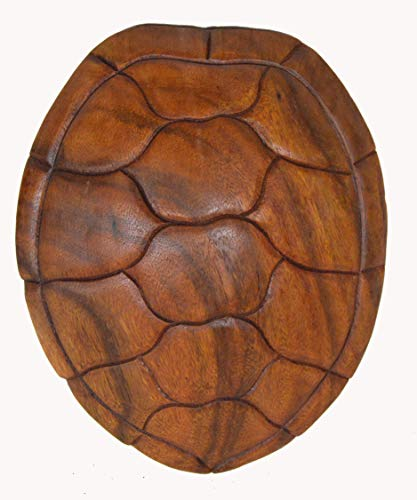 WorldBazzar Hand Carved Wooden SEA Turtle Shell Abstract Art Wall Sculpture Plaque