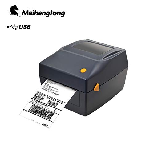 Meihengtong Label Printer - High Speed Direct Thermal Desktop Printer for Labels, Barcodes, Tags - Compatible with UPS, FedEx, Amazon, Ebay, Etsy, Shopify - 4x6 Printer
