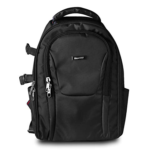MegaGear MG1623 SLR Camera and Laptop Backpack with Rain Cover - Accessory Bag - Black