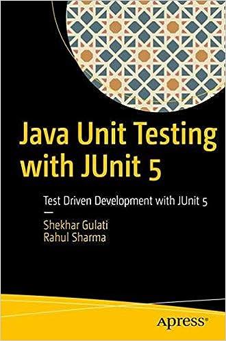 Java Unit Testing with JUnit 5: Test Driven Development with JUnit 5