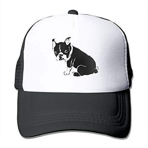 Bulldog Silhouette Clip Art Mesh Adjustable Trucker Baseball Cap for Men Women