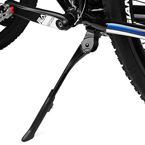BV Fahrrad-Seitenständer Parkstütze Kickstand, verstellbarer Fahrradständer, Adjustable Kickstand for Bicycles with Concealed Spring-Loaded Latch