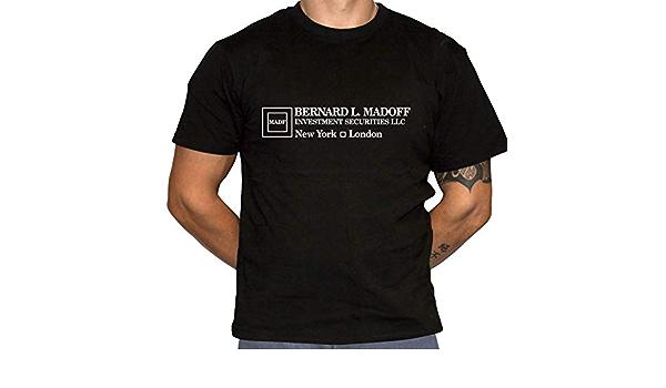 FREE SHIPPING BERNIE MADOFF INVESTMENTS Black T-Shirt Gildan 64000