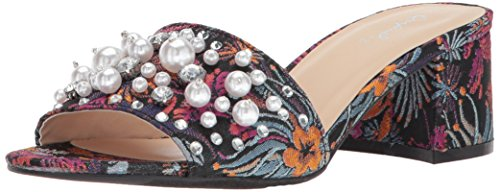 2X Heeled Sandal, Fuchsia Multi, 8 M US (Heel Leather Mule)