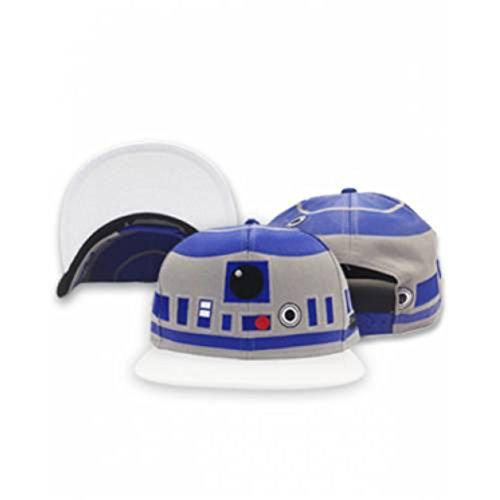Sporticus Men's Star Wars R2D2 Snapback Baseball Cap / Hat (Blue) (R2d2 Hat)