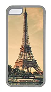 Hot iPhone 5C Case - Architectural Landscape-Paris Eiffel Tower Lovely Milk Bottles Funny Lovely Best Cool Customize iPhone 5C Cover TPU Transparent