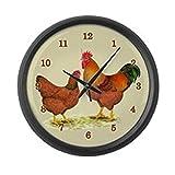 Cheap CafePress – New Hampshire Chickens – Large 17″ Round Wall Clock, Unique Decorative Clock