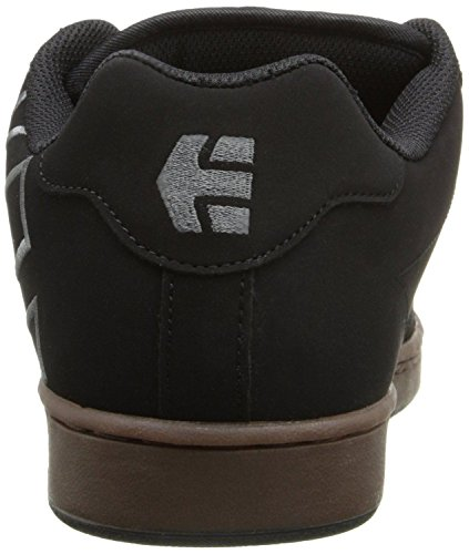 Etnies Fader Black Grey Gum Mens Leather Skate Trainers Shoes