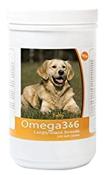 Healthy Breeds 3088-gold-002 Omega 3 & 6 Soft Chews for Golden Retriever, 120 Count