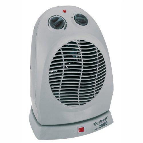 Einhell Heizlüfter HKLO 2000 (2000 Watt, 2 Heizstufen, zuschaltbare Drehfunktion, Ventilatorbetrieb, stufenloser Thermostatregler, Griffmulde)