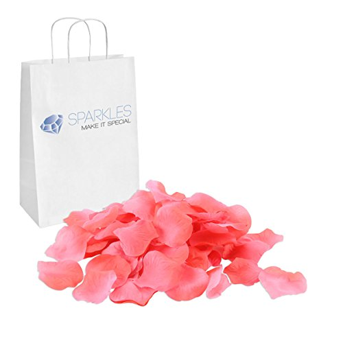 (Sparkles Make It Special 900-pcs Rose Petals Faux Silk Flower - 24 Colors - Coral )