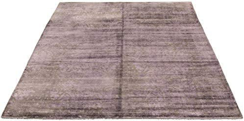 Large Area Rug for Living Room, Bedroom Hand-Knotted Galleria Casual Purple Rug 8 0 x 9 9 315692