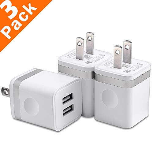 USB Wall Charger, WITPRO 3-Pack 2.1A/5V Universal Dual Port