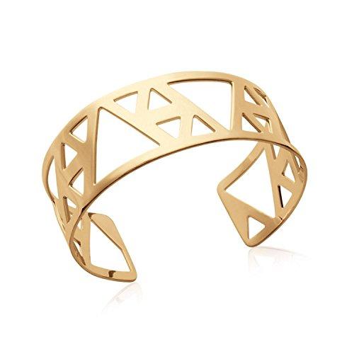 Bracelet Manchette en Plaqué Or - Ajouré - Triangles