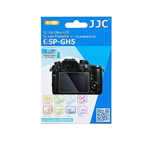 JJC 0.01'' Ultra-thin Clear Optical Tempered Glass LCD Screen Protector for Panasonic Lumix GH5 Digital Camera
