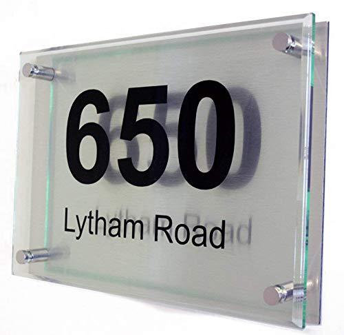 Modern acrylic house sign Large House Sign
