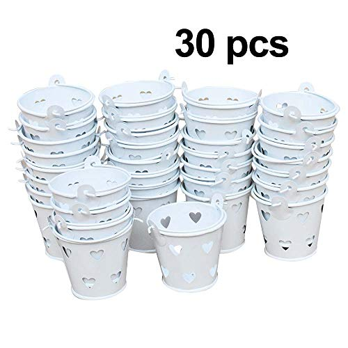 (Awtlife 30 pcs Mini Metal Bucket Candy Favours Box Pail Wedding Party Gift)