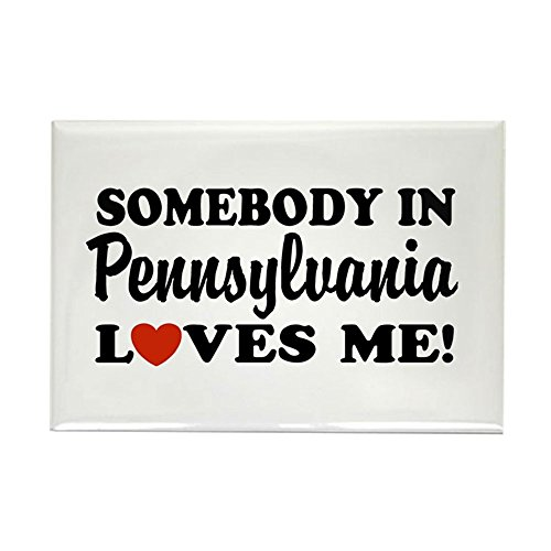 (CafePress Somebody in Pennsylvania Loves Me Rectangle Magnet Rectangle Magnet, 2