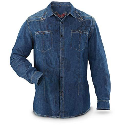 Scully Men's 115 Long-Sleeve Shirt, Blue, Blue, ()
