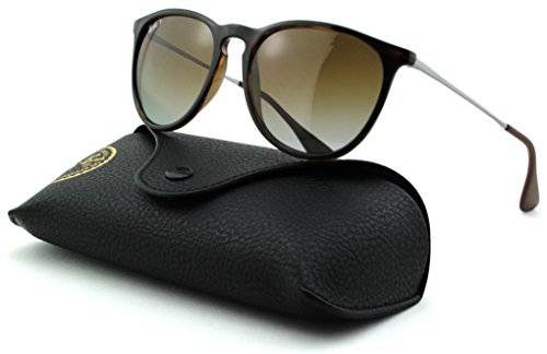 Ray-Ban RB4171 ERICA Unisex Polarized Aviator Sunglasses (Havana Frame, Polarized Brown Gradient - Raybans Erica