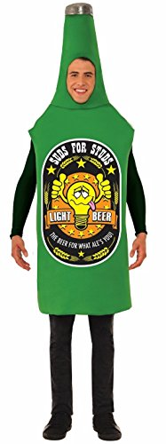 Forum Novelties Unisex-Adult's Beer Bottle Costume, Green One Size fits Most ()