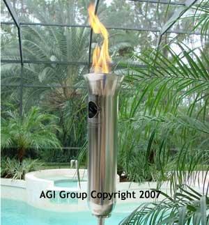 Olympic Style Propane Trivoli Gas Tiki Torch: Amazon.co.uk: Garden U0026  Outdoors