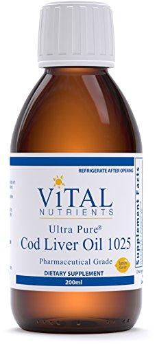 tra Pure Cod Liver Oil 1025 (Pharmaceutical Grade) - 100% Pure Norwegian Cod Liver Oil - 200 ml (Pure Cod Liver Oil)