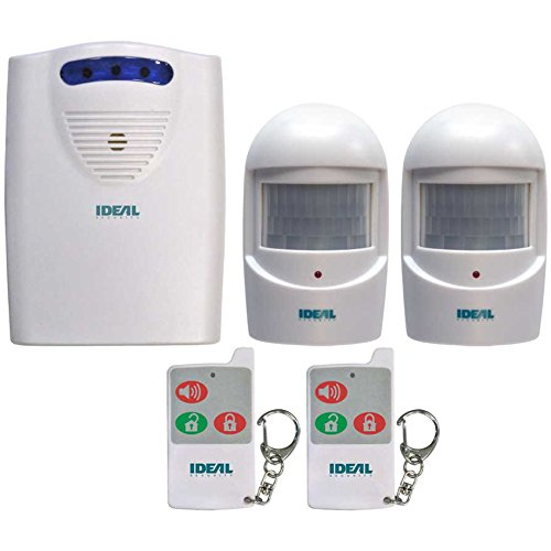 (Ideal Security SK6 Wireless Motion SensorKit, 2 Motion Sensors, 2 Remote Controls, 1 Chime - Battery-Powered)