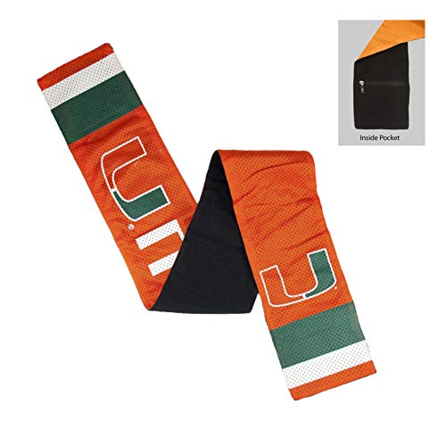 NCAA Miami Hurricanes Jersey Scarf