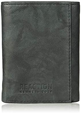 Kenneth Cole Reaction Men's Wallet - RFID Blocking Security Genuine Leather Slim Trifold with ID Window and Card Slots