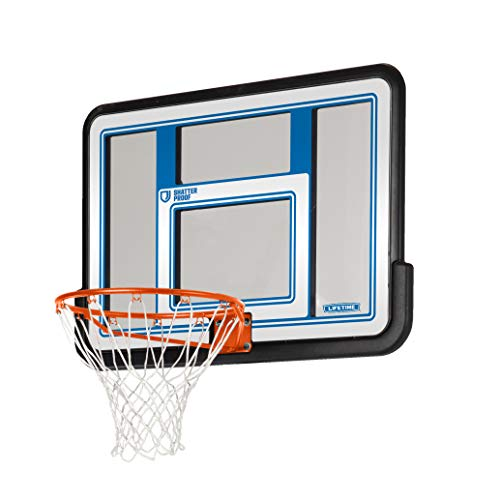 Lifetime 73650 44 Inch Shatterproof Backboard and Rim Combo Kit (Goal Basketball Garage)